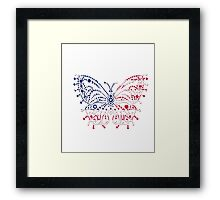 American Patriotic Dots Butterfly Flag  Framed Print