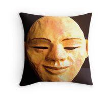 Mask of Serene Joy Throw Pillow