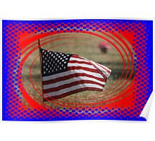 Colorful US Flag on Memorial Day Poster