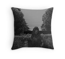 Lady In Waiting - gray tones - Royal Roads University Throw Pillow