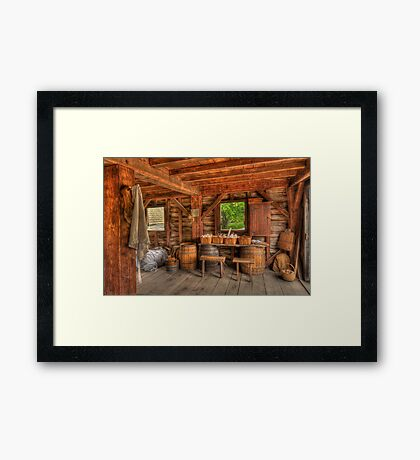 Days Gone By - Mill  Framed Print