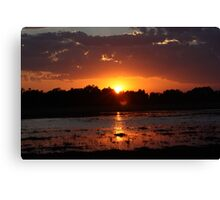 Sunset Reflection on the Water Canvas Print