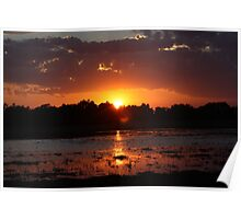 Sunset Reflection on the Water Poster