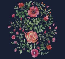 watercolor roses Kids Clothes