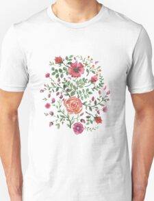 watercolor roses Unisex T-Shirt
