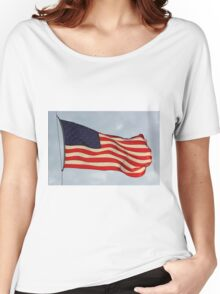 US FLAG Flying in the Sun Light Women's Relaxed Fit T-Shirt