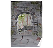 Watercolour of Rivington Pike Arch Poster