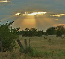 Sun Ray's Shining throught the Cloud's by ROBERTDBROZEK