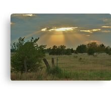 Sun Ray's Shining throught the Cloud's Canvas Print