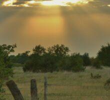 Sun Ray's Shining throught the Cloud's Sticker
