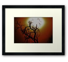 HALLOWEEN TREE BRIGHT AND COLORFUL Framed Print