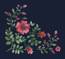 watercolor roses One Piece - Short Sleeve