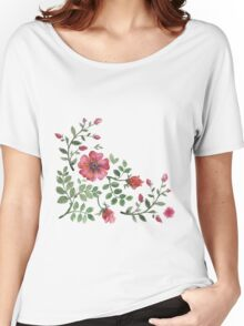 watercolor roses Women's Relaxed Fit T-Shirt