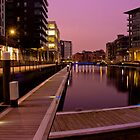 Dusk at Clarence Dock by James Dolan