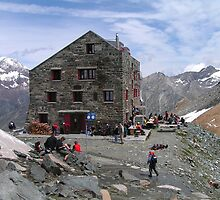 Britannia Hut, Saas Fee - Switzerland by Kat Simmons