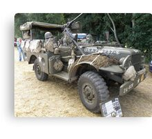 Well Armed Dodge Weapons Carrier Canvas Print
