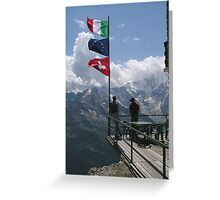 Looking across to Italy from the Monte Moro Pass Greeting Card