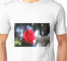 Bright and Colorful RED ROSE close up Unisex T-Shirt