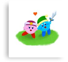 Kirby Couple Canvas Print