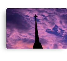 Bright and Colorful Cross in the SKY Canvas Print