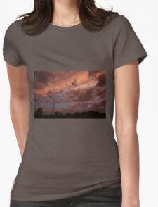 Kansas Stormy Night out back Womens Fitted T-Shirt