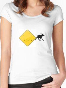 Break out elk Women's Fitted Scoop T-Shirt