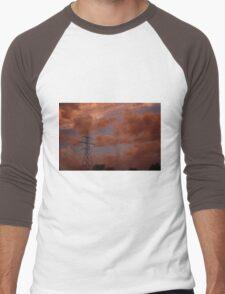 Stormy Night out back in Kansas Men's Baseball ¾ T-Shirt