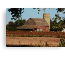 Kansas Country Red Barn Canvas Print