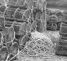 Lobster Pots at Charlestown by pisk