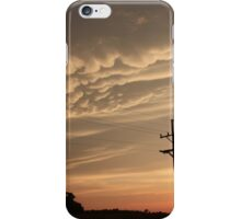 Puffy Cloud's on a Stormy night iPhone Case/Skin