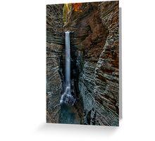 Cavern Cascade Greeting Card