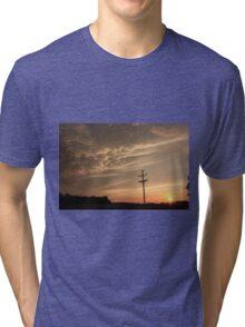 Puffy Cloud's on a Stormy night Tri-blend T-Shirt