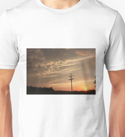 Puffy Cloud's on a Stormy night Unisex T-Shirt
