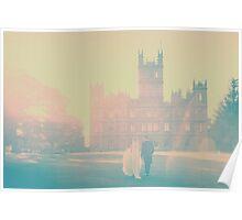 Bride & Groom walking  Poster