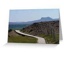 Beinn Ghobhlach from Mellon Udrigle - Wester Ross Greeting Card