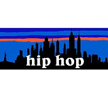 Hip Hop, NYC skyline silhouette Photographic Print