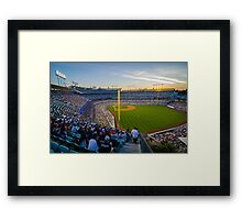 Sunset over Blue Heaven on Earth Framed Print