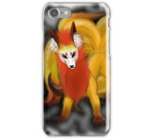 Nine-Tailed Kitsune (White Recommended.) iPhone Case/Skin