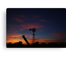 Kansas Bright and Colorful Evening Sunset Canvas Print