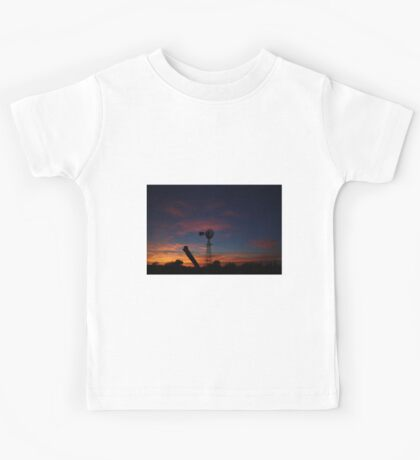 Kansas Bright and Colorful Evening Sunset Kids Tee