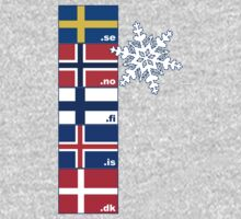 Nordic Cross Flags Kids Clothes