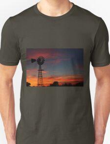 Kansas Colorful Windmill Silhouette T-Shirt