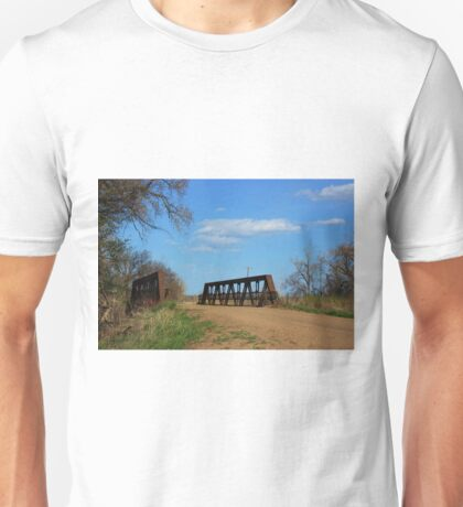 Kansas Country Bridge with Blue sky Unisex T-Shirt