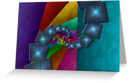 Fractal Cubism Christmas by rocamiadesign