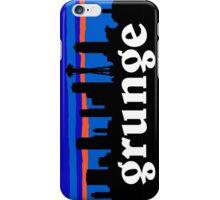 Grunge, Seattle skyline silhouette. iPhone Case/Skin