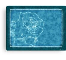 *Pink Roses in Anzures 1 Outlined Blue* Canvas Print