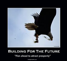 Bald Eagle Motivational Poster by Val  Brackenridge