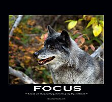 Grey Wolf Motivational Poster by Val  Brackenridge