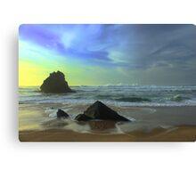 Adraga sunset... Canvas Print