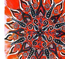 Mandala : Orange Vibrancy by danita clark